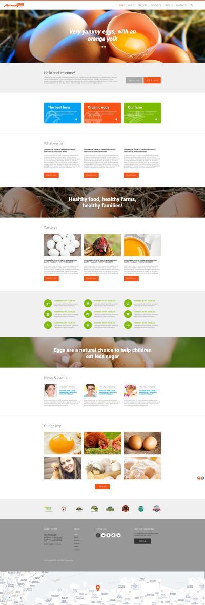 Modèle Web adaptatif  pour site de volaille