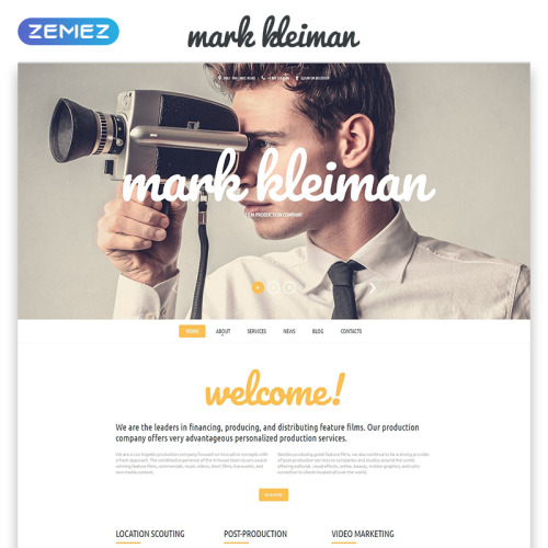 Mark Kleiman - Responsive Website Template