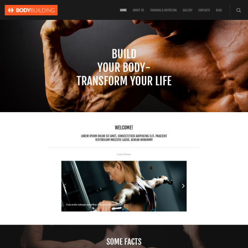 Body Building - WordPress Template based on Bootstrap