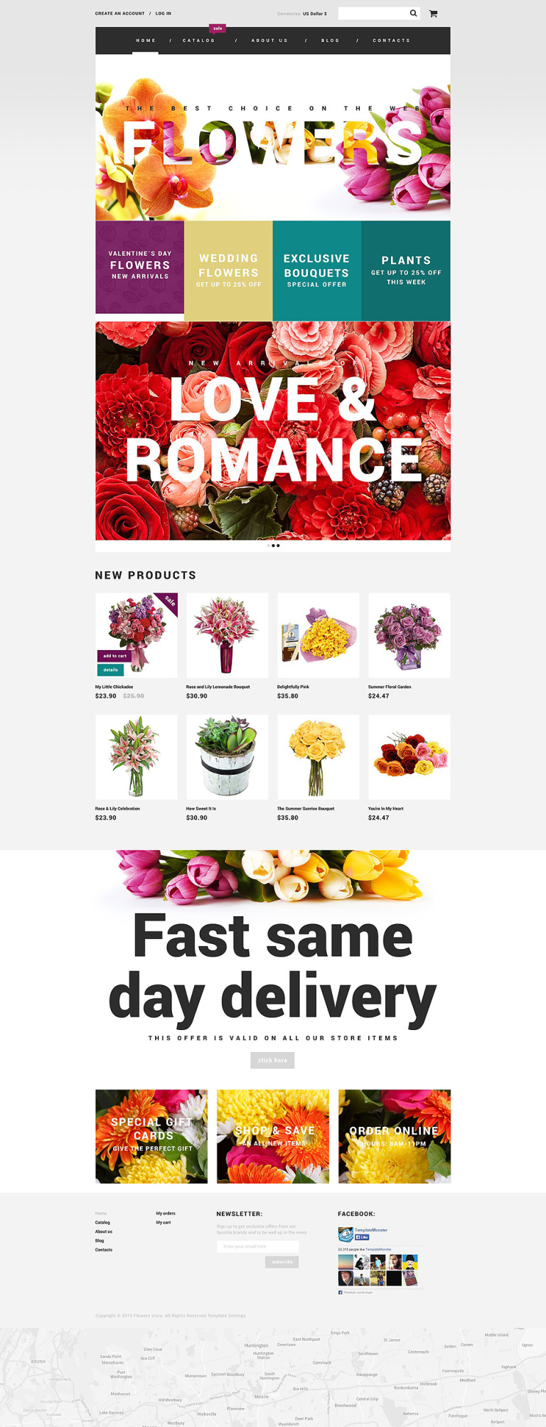 Flowers VirtueMart Template New Screenshots BIG