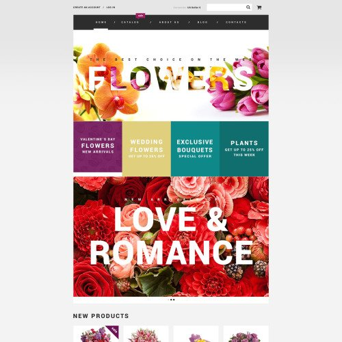 Flowers - VirtueMart Template based on Bootstrap