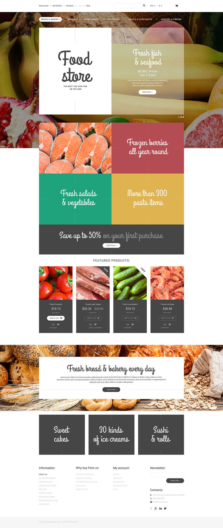 Food Store Magento Theme New Screenshots BIG