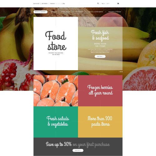Food Store - Magento Template based on Bootstrap