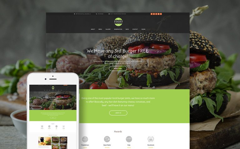 Fooxy - Food Delivery Service WordPress Theme New Screenshots BIG