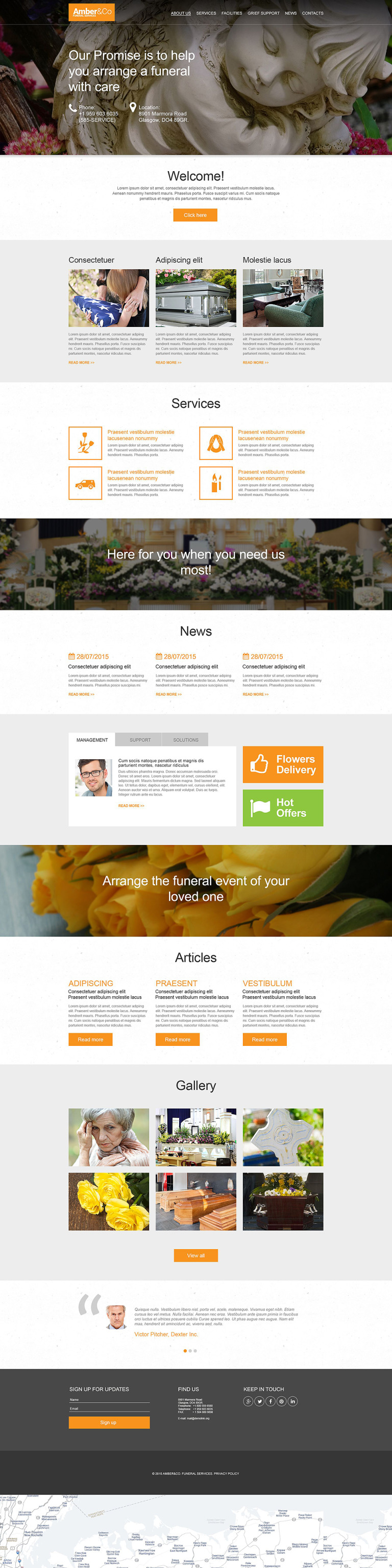 Funeral Services Muse Template New Screenshots BIG
