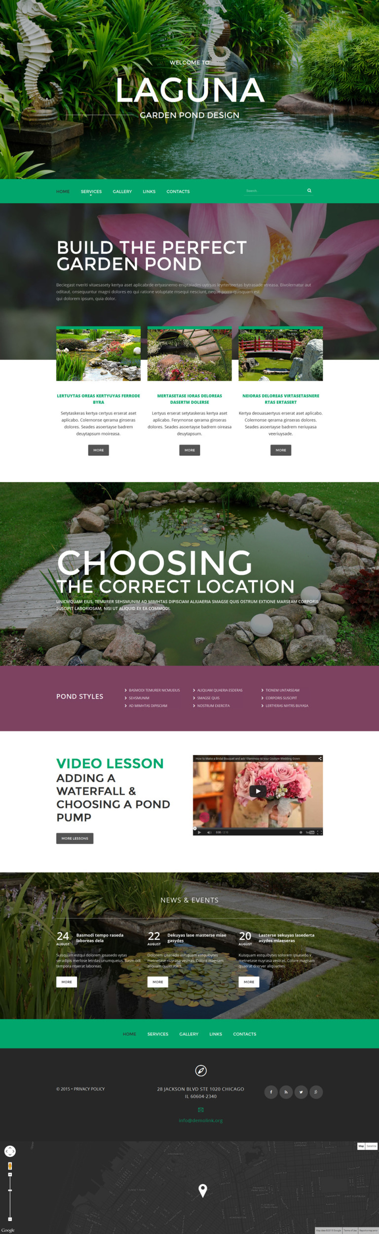 Garden Design Website Template