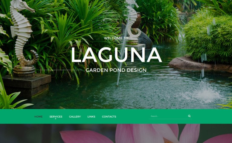 garden pond design website template new screenshots big