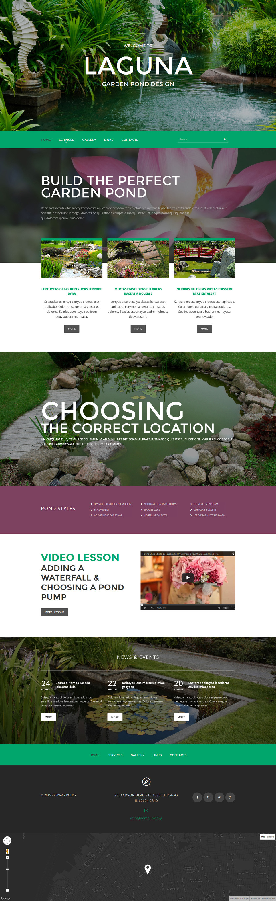 Merveilleux Garden Pond Design Website Template New Screenshots BIG