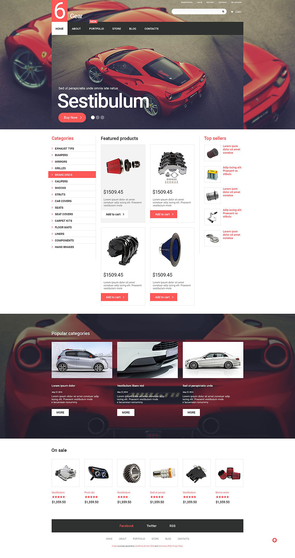 6 Gear WooCommerce Theme New Screenshots BIG