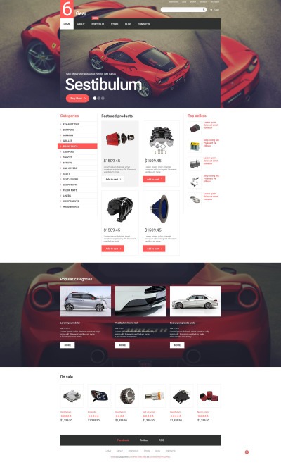 6 Gear WooCommerce Theme