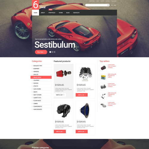 6 Gear - WooCommerce Template based on Bootstrap