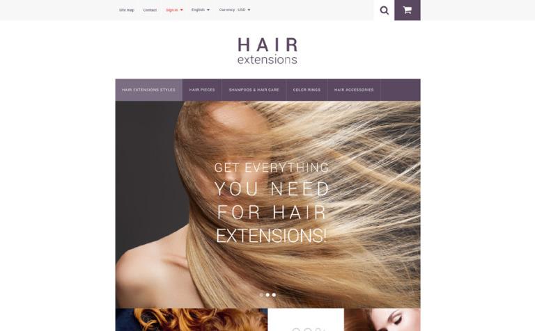 Hair Extensions PrestaShop Theme