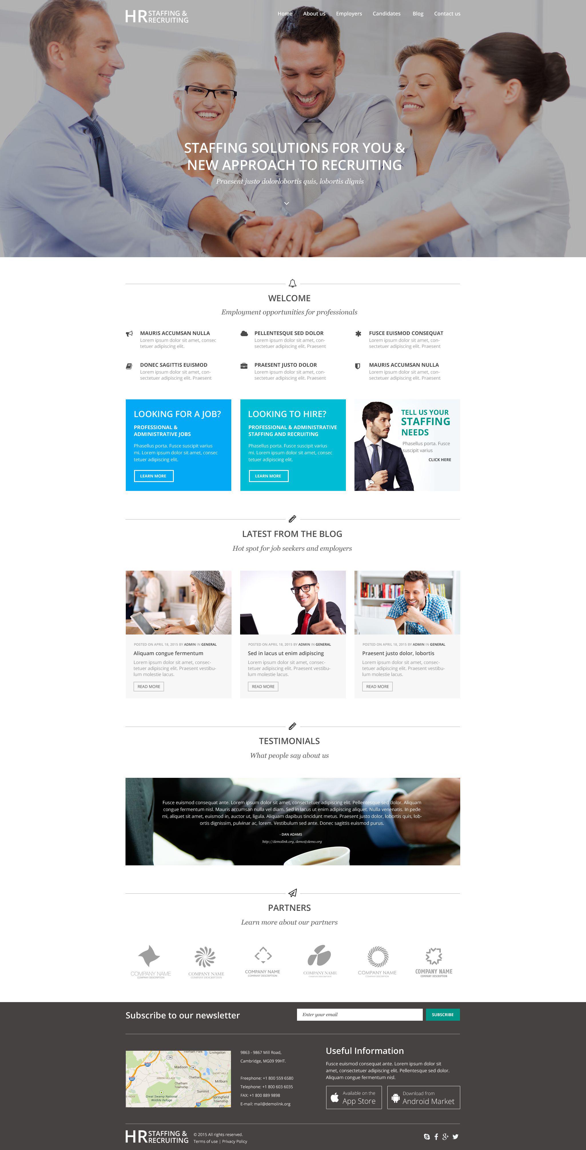 """""""HR Recruiting"""" Responsive WordPress thema №55047 - screenshot"""