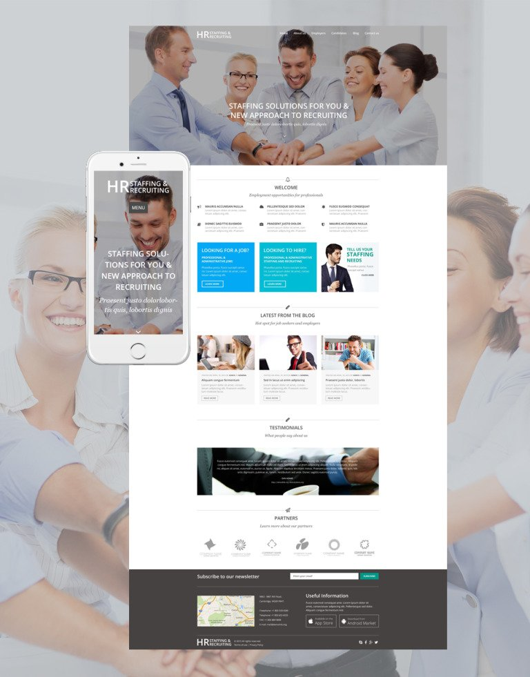 HR Recruiting WordPress Theme New Screenshots BIG
