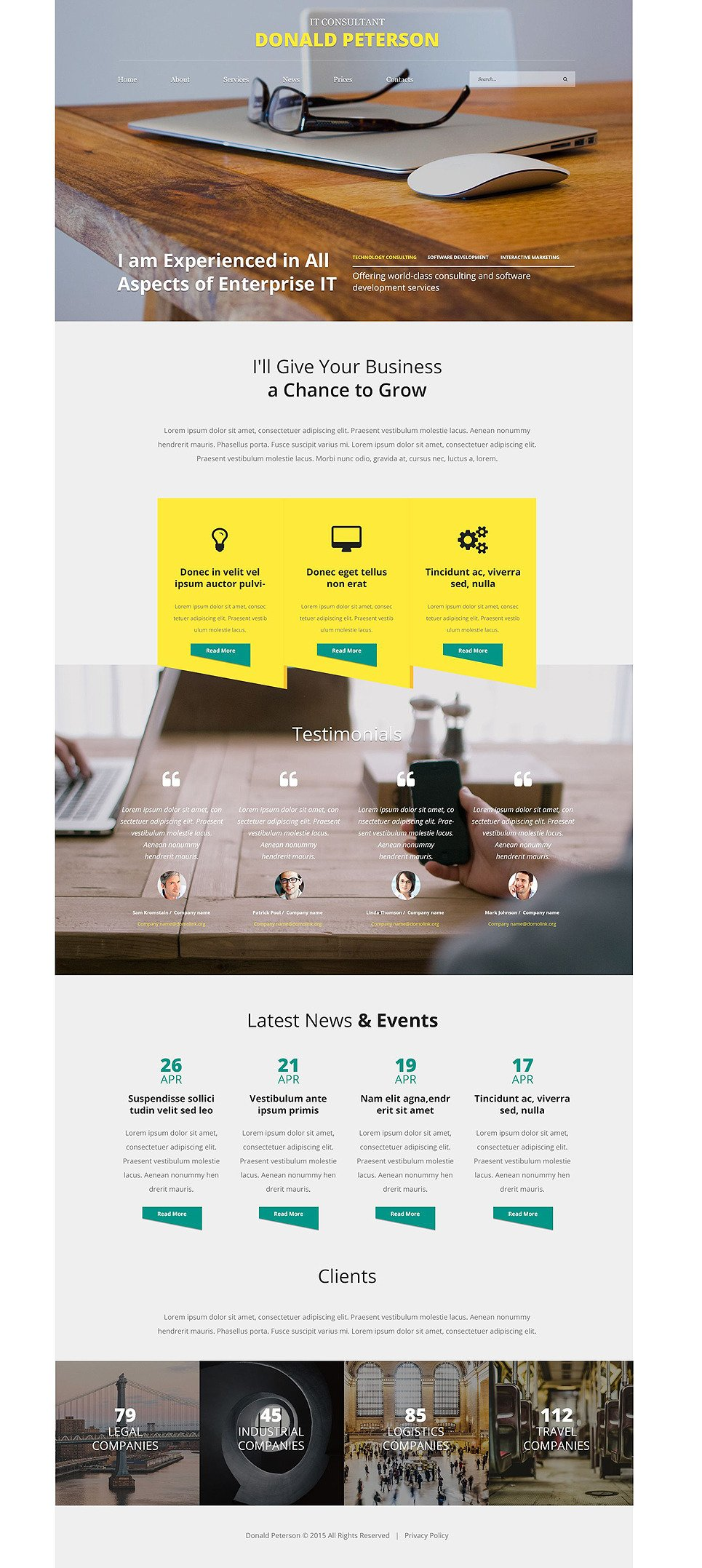 IT Guru Website Template New Screenshots BIG