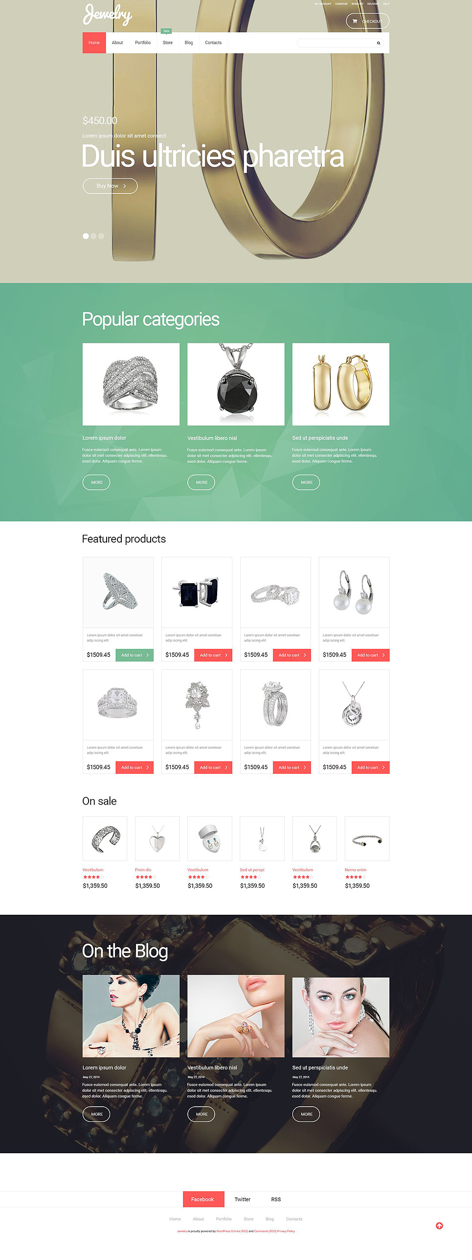 Jewelry WooCommerce Theme New Screenshots BIG