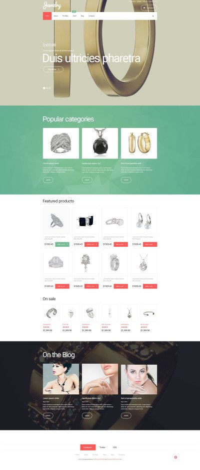 Jewelry WooCommerce Theme 1 reviews Type: WooCommerce