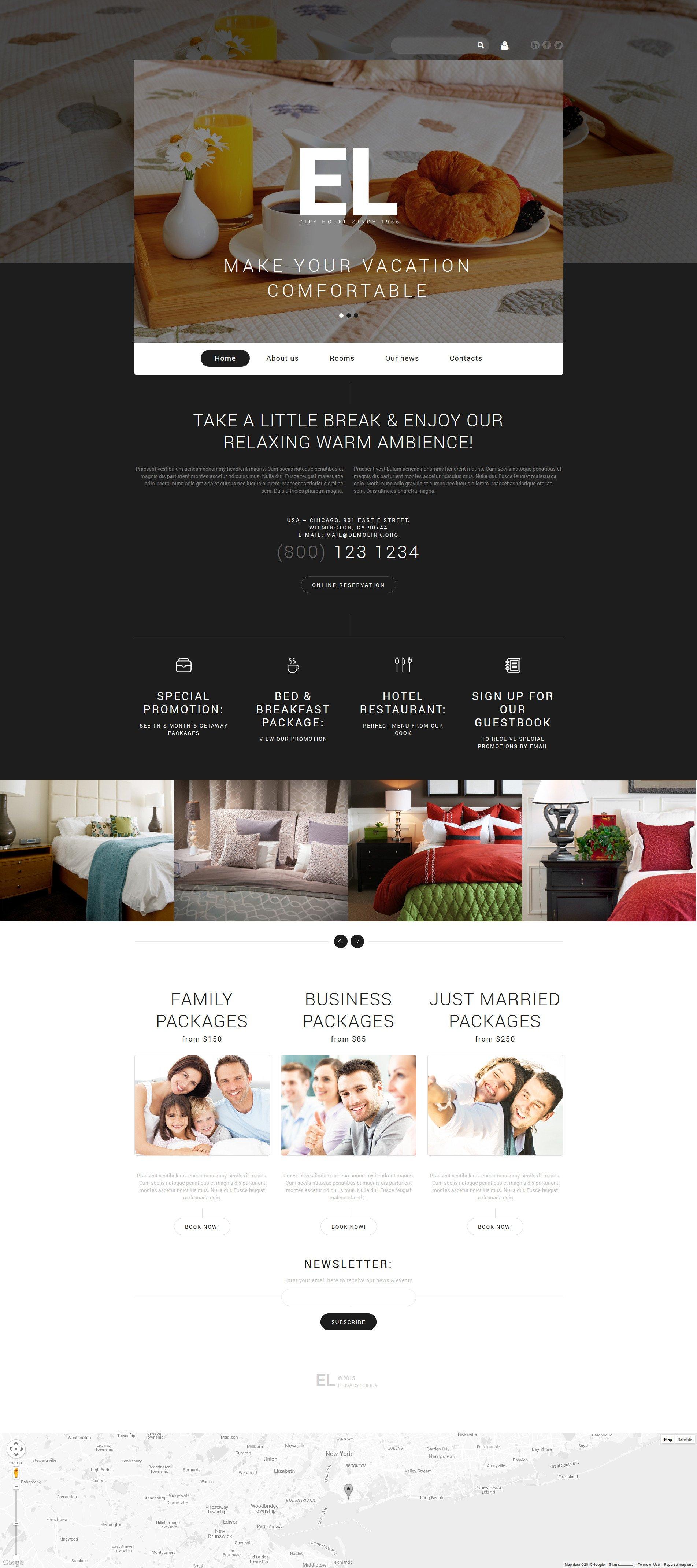"Joomla Vorlage namens ""City Hotel"" #55057"