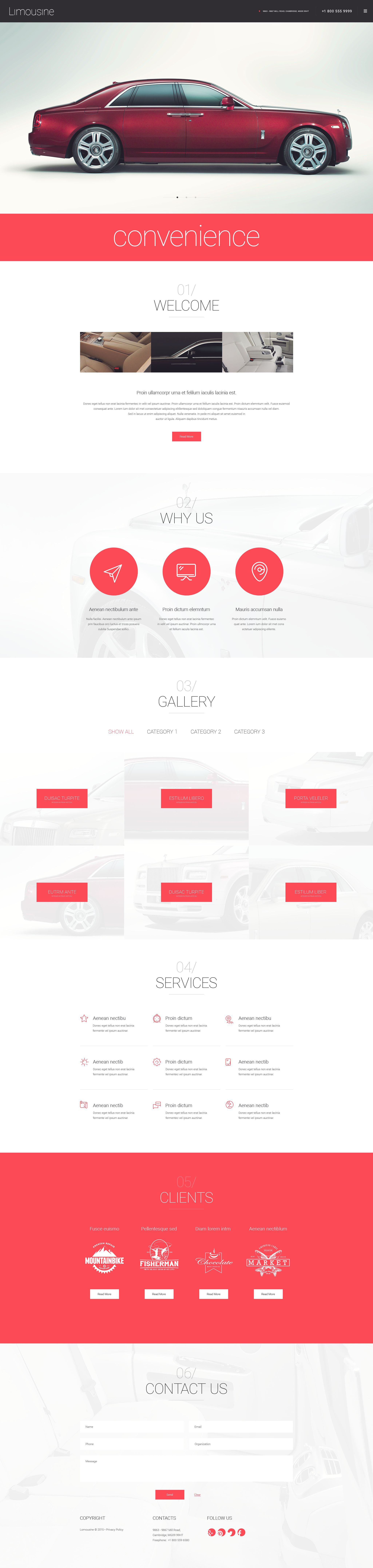 """Limousine"" Responsive WordPress thema №55049 - screenshot"