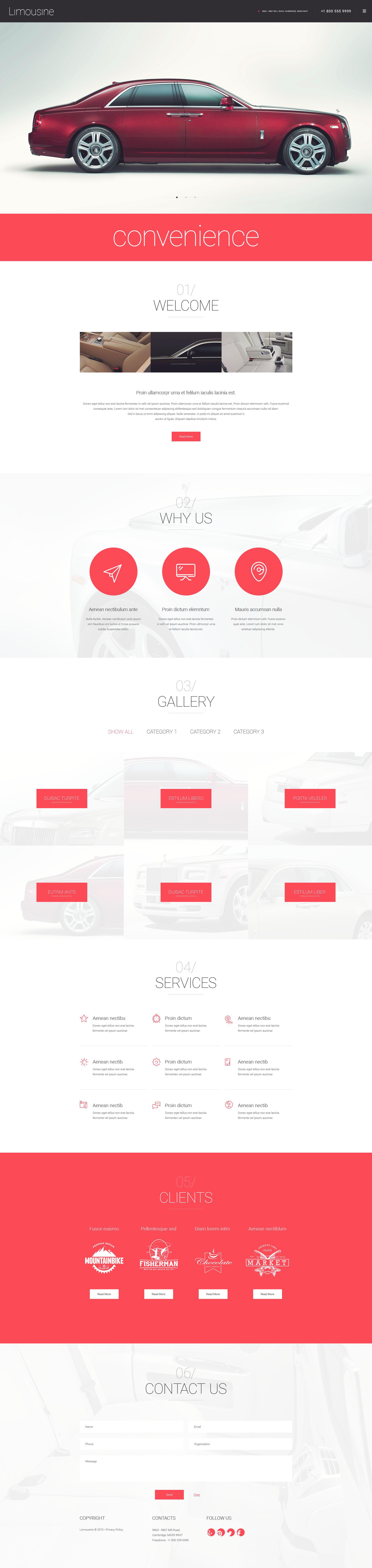 """Limousine"" thème WordPress adaptatif #55049 - screenshot"