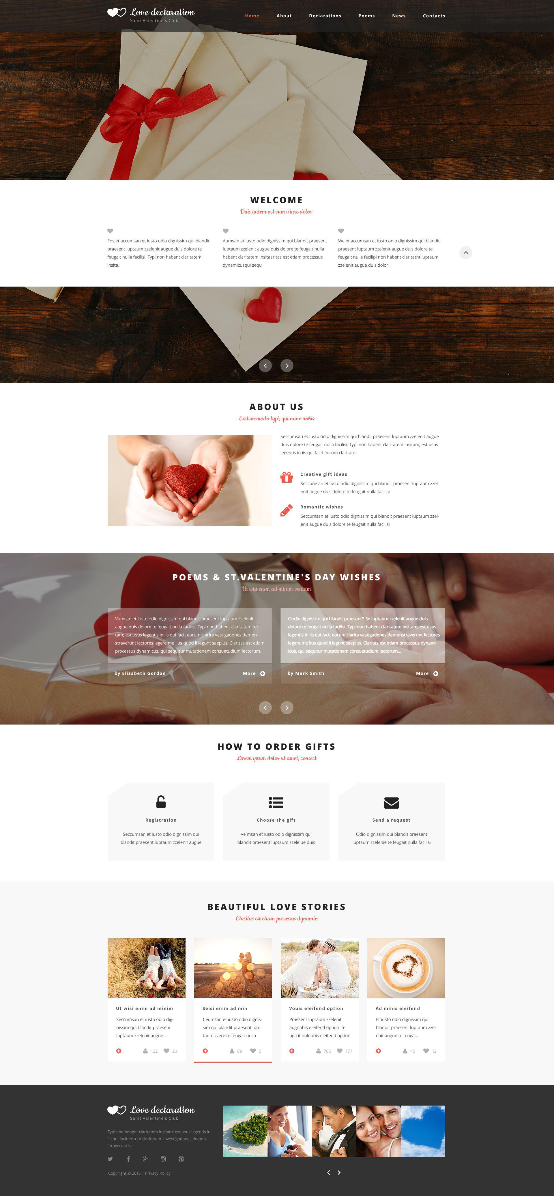 Valentines Website Template