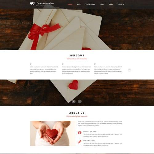 Love Declaration - Responsive Website Template