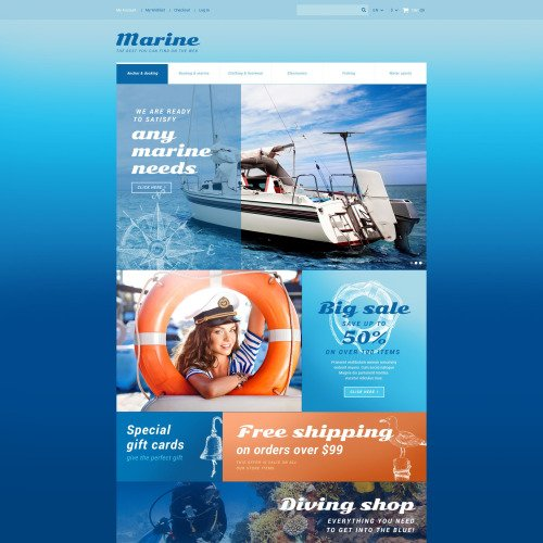 Marine  - Magento Template based on Bootstrap