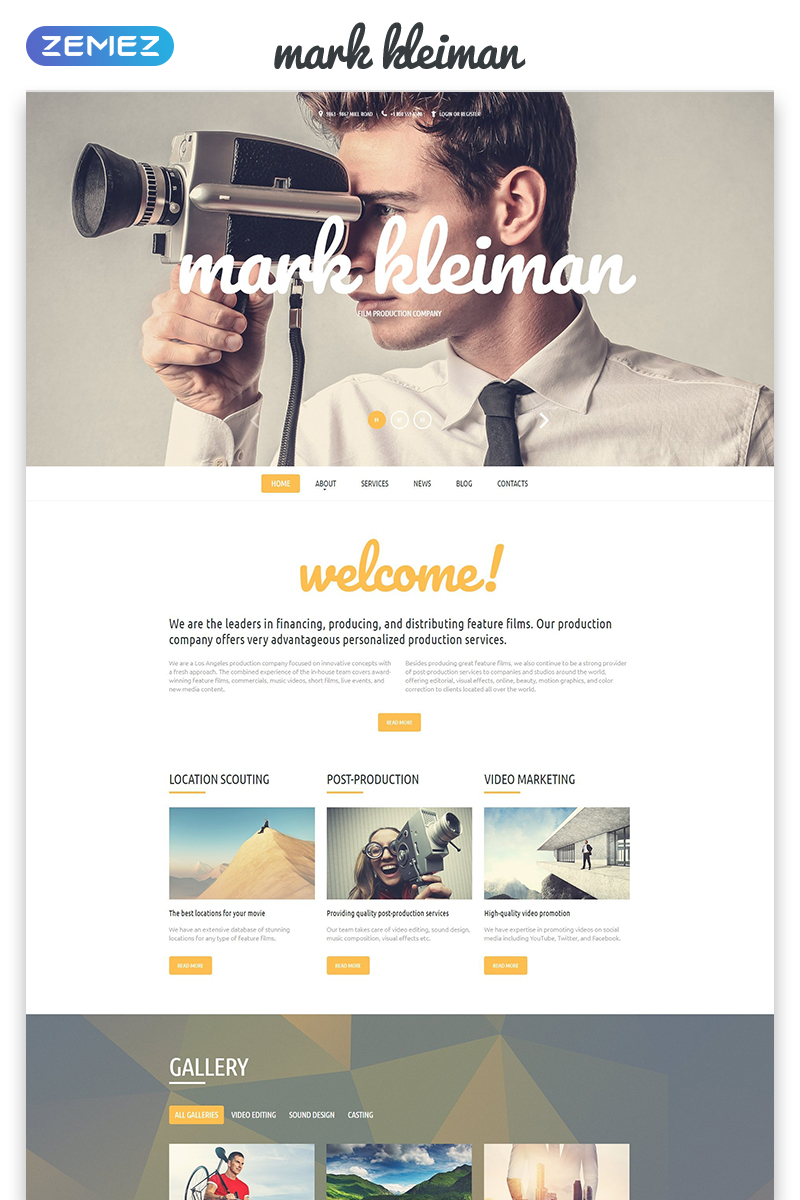 Mark Kheiman - Movie Responsive Modern HTML Website Template
