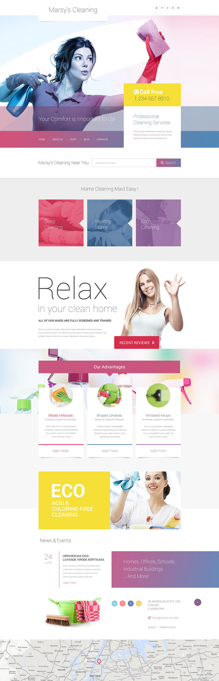 Marsy's Cleaning WordPress Theme New Screenshots BIG