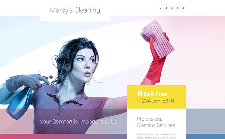Marsy's Cleaning WordPress Theme