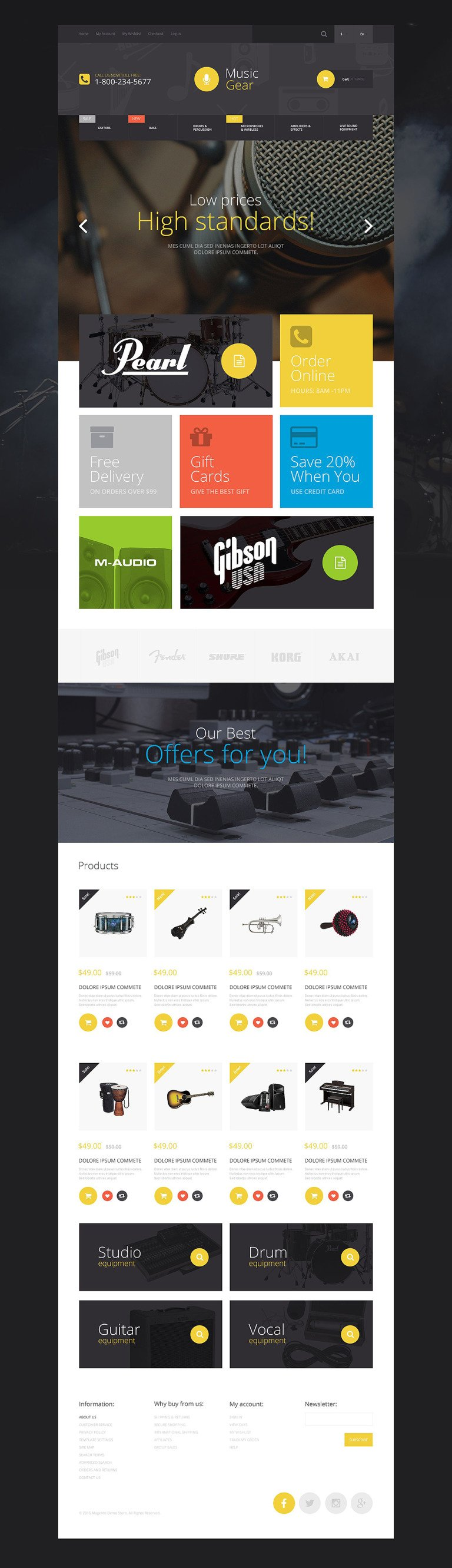 Music Gear Store Magento Theme New Screenshots BIG