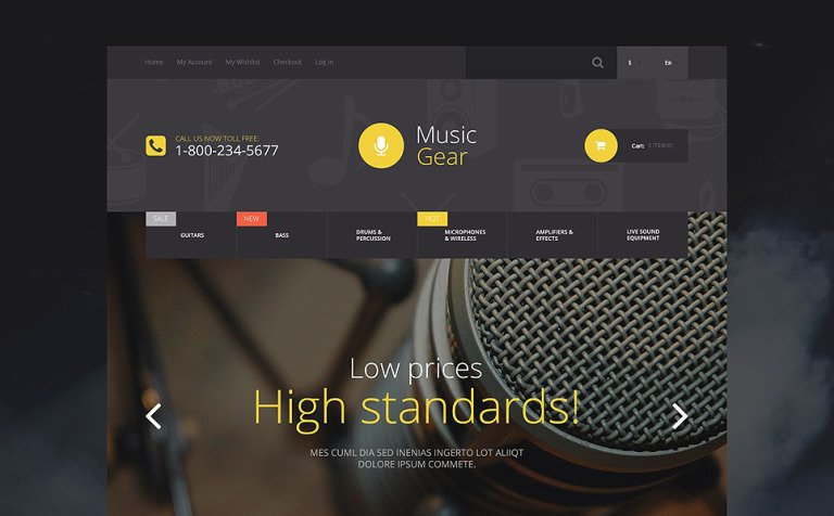 Music Gear Store Magento Theme