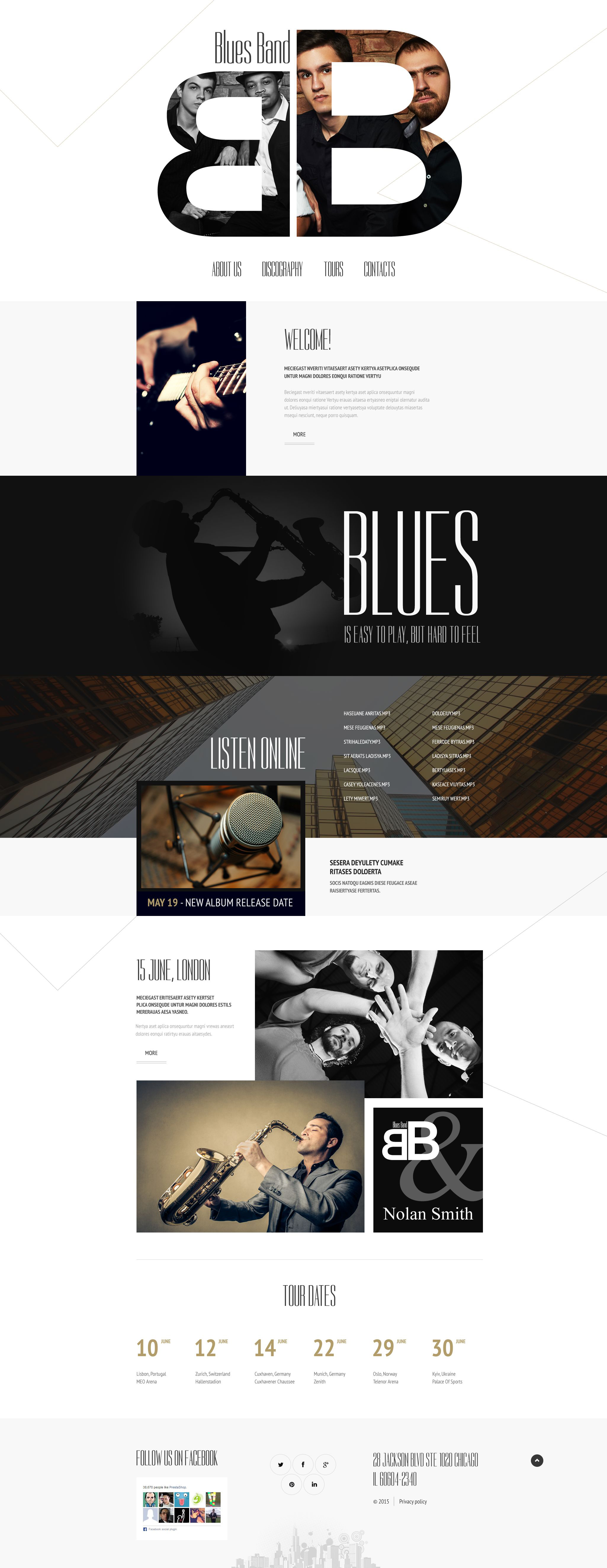 Music Website Template - screenshot
