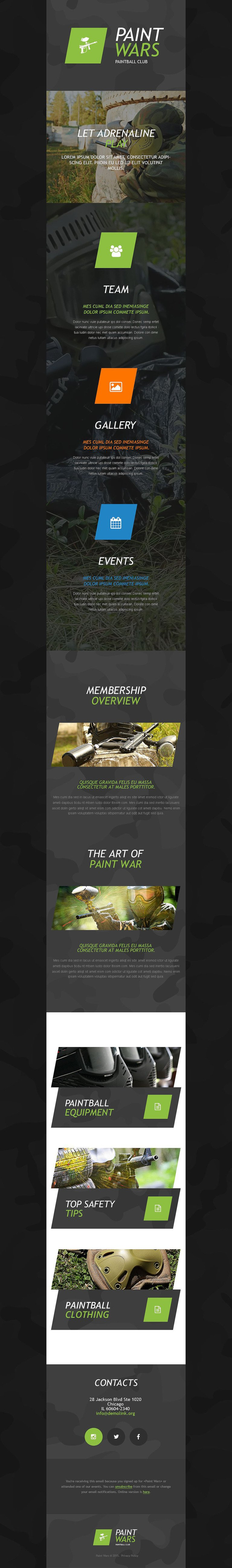 Paintball Responsive Newsletter Template New Screenshots BIG
