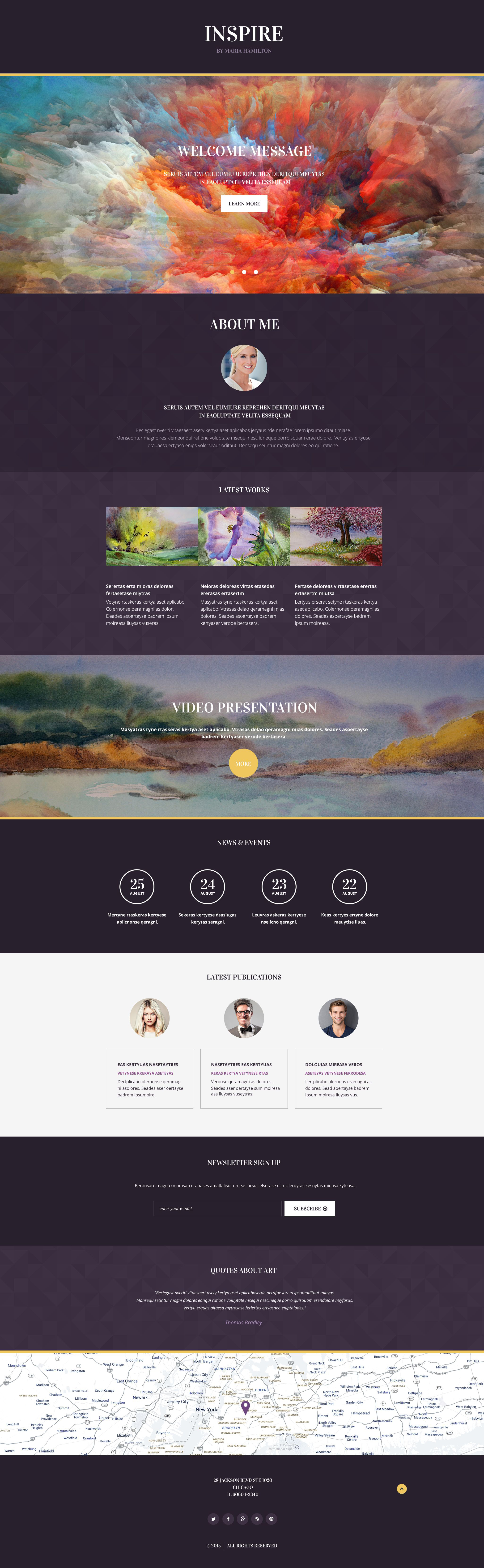 Painting Company Responsive Landing Page Template - screenshot
