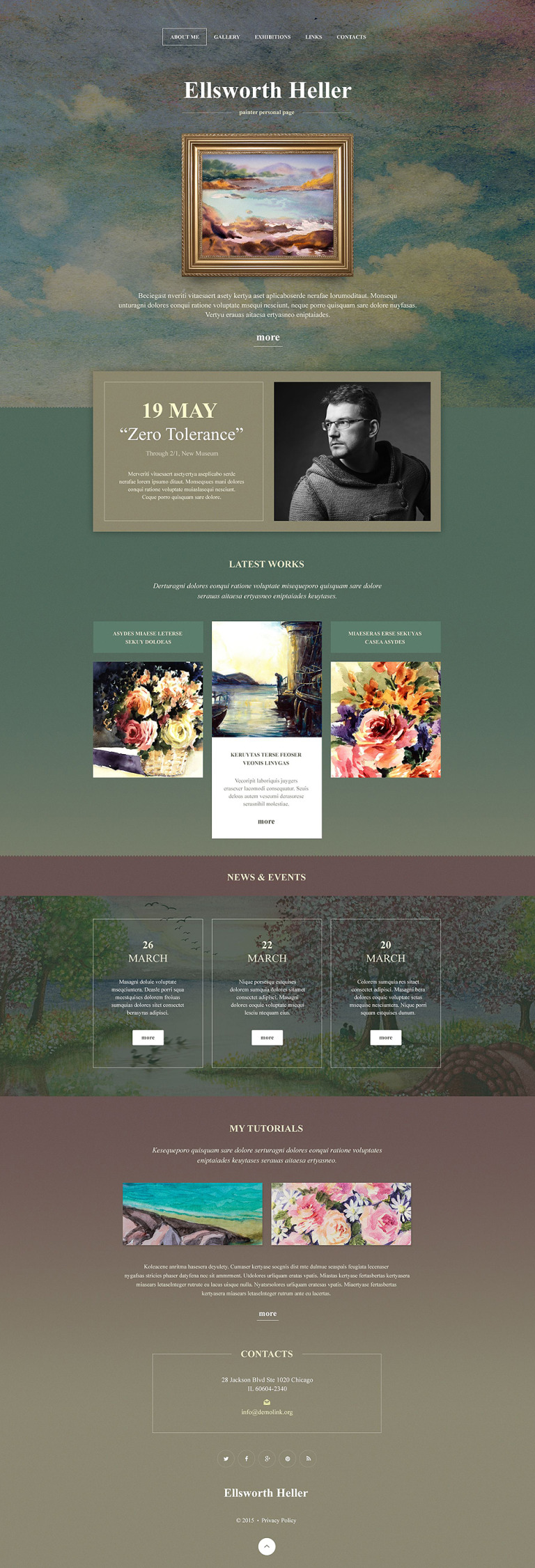 Personal Page Muse Template New Screenshots BIG