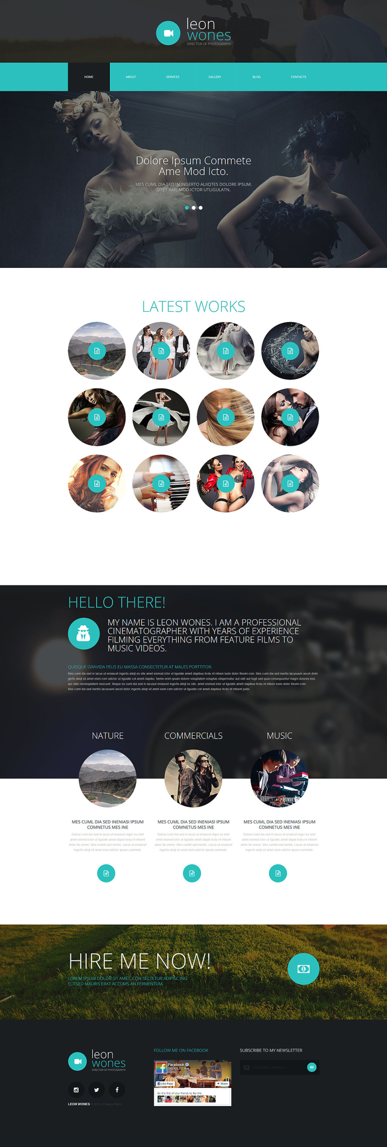 Photography Director Joomla Template New Screenshots BIG
