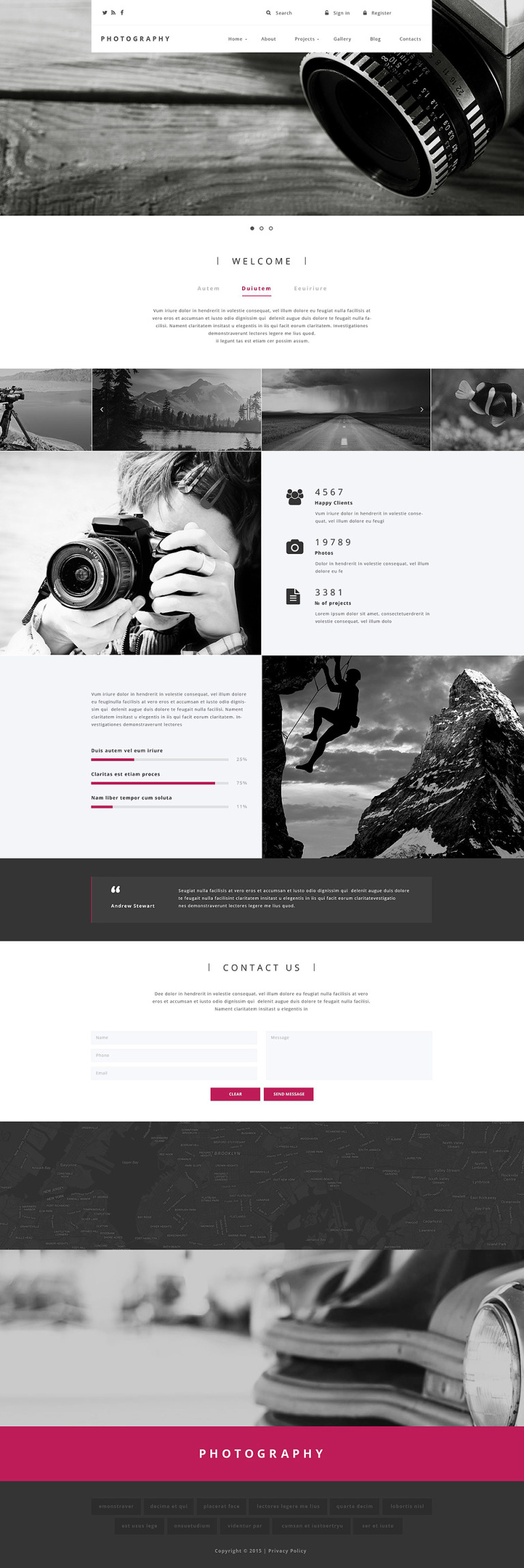 Photography Drupal Template New Screenshots BIG