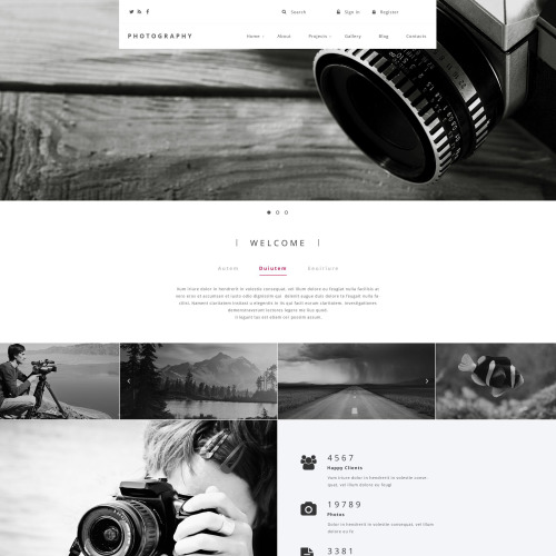 Photography - Responsive Drupal Template