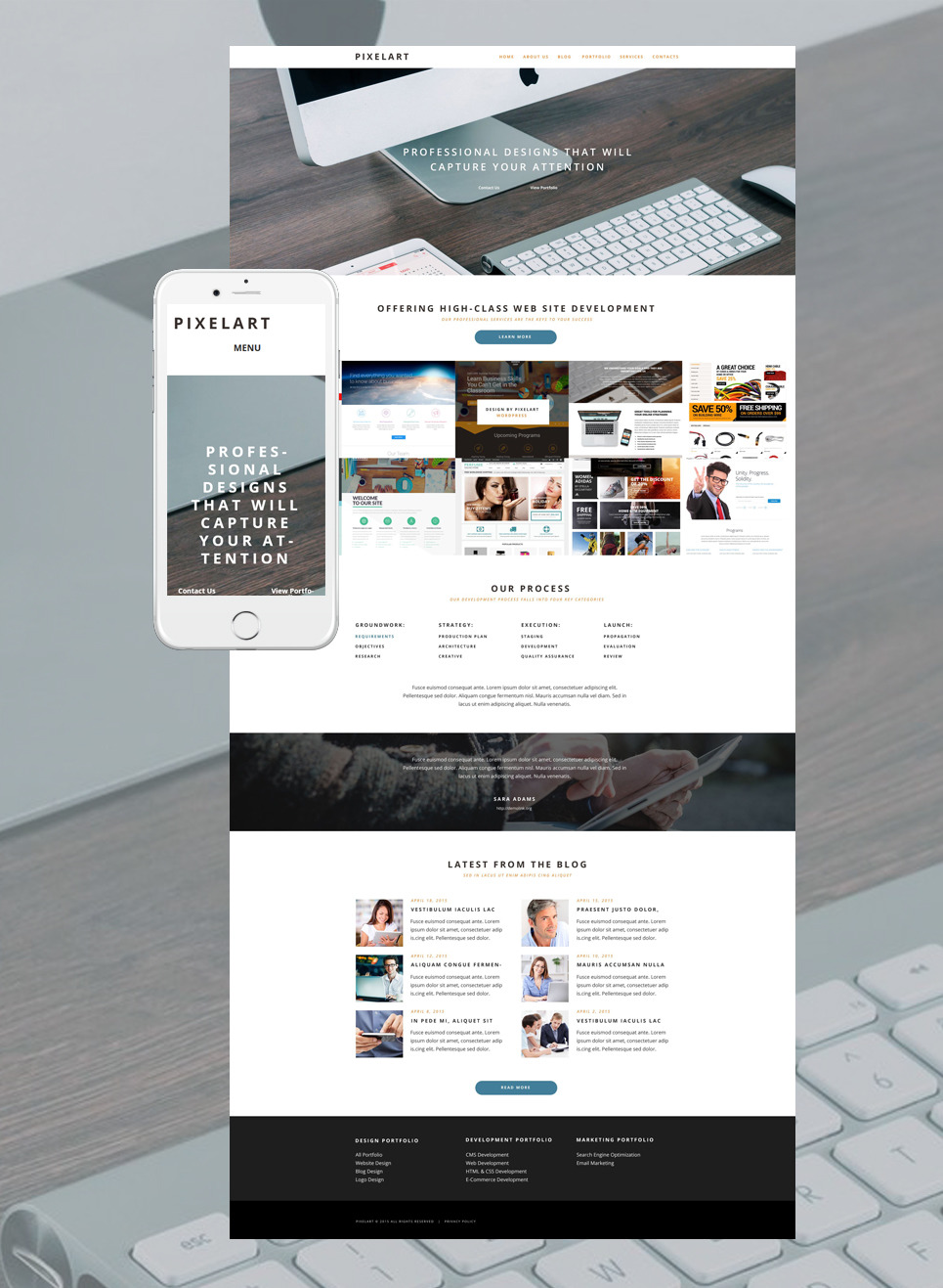 PixelArt WordPress Theme New Screenshots BIG