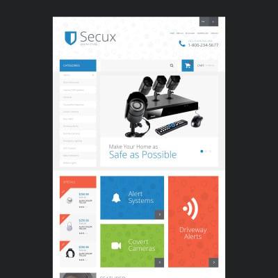 Responsive Plantilla OpenCart #55040 para Sitio de  para Sitio de Seguridad