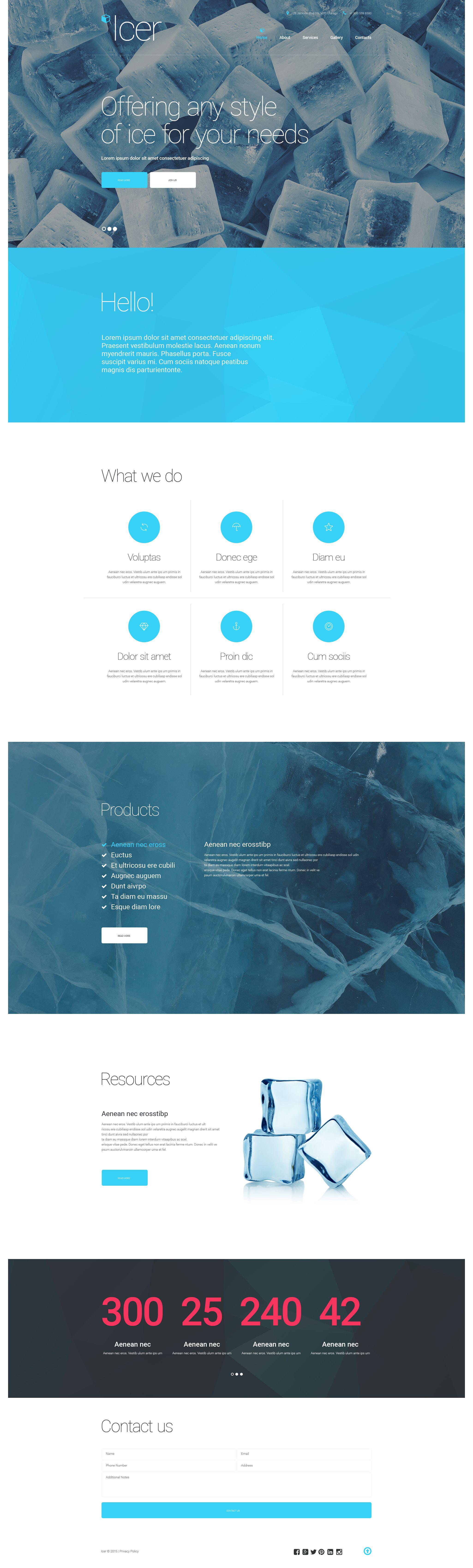 Plantilla Web Responsive para Sitio de Agua #55069 - captura de pantalla