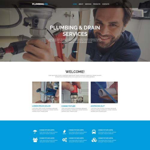 Plumbing & co - Website Template based on Bootstrap