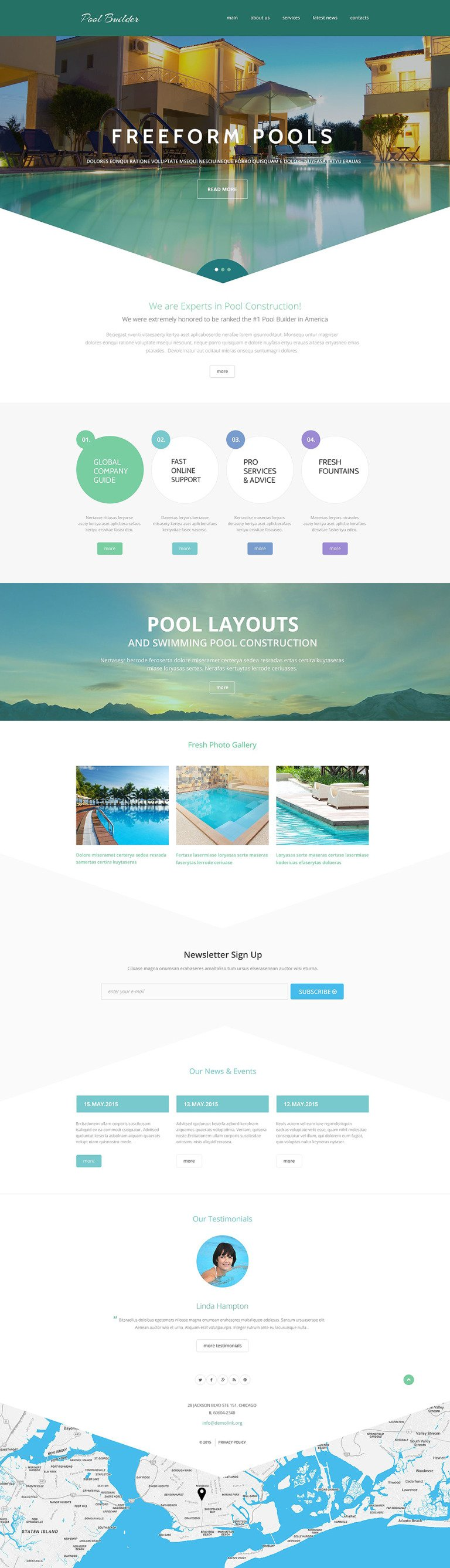 Pool Maintenance Website Template New Screenshots BIG