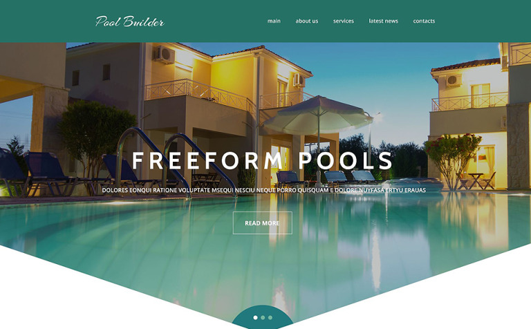 Pool Maintenance Website Template New Screenshots