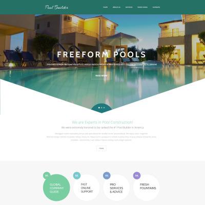 Swimming Pool Website Design website website template 35003 swimming pool Pool Cleaning Website Templates Templatemonster