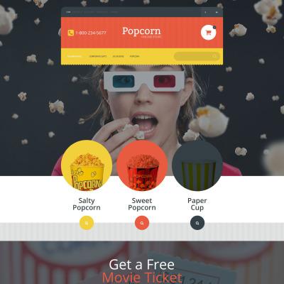 Popcorn Online Store OpenCart Template #55039