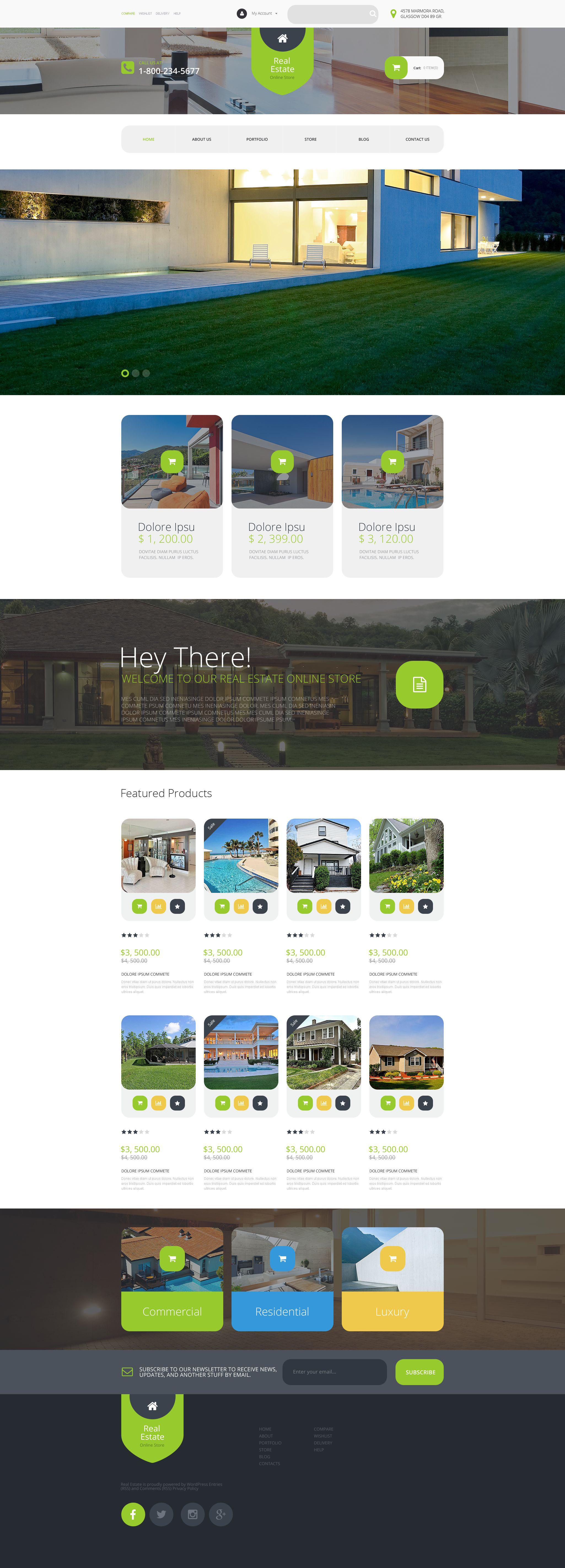 Real Estate Agency WooCommerce Theme - screenshot
