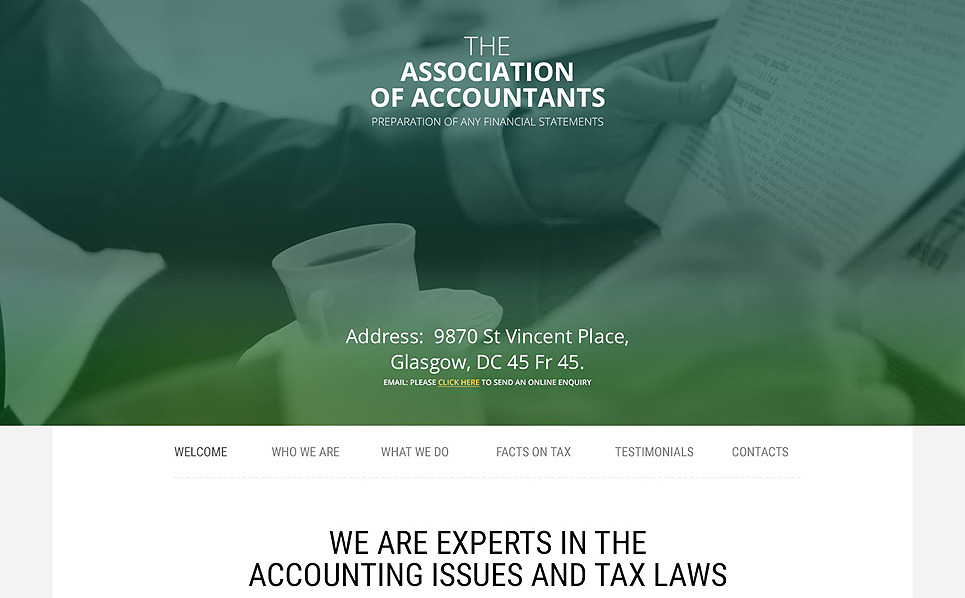 Responsive Accounting Website Templates Web Sitesi Şablonu New Screenshots BIG