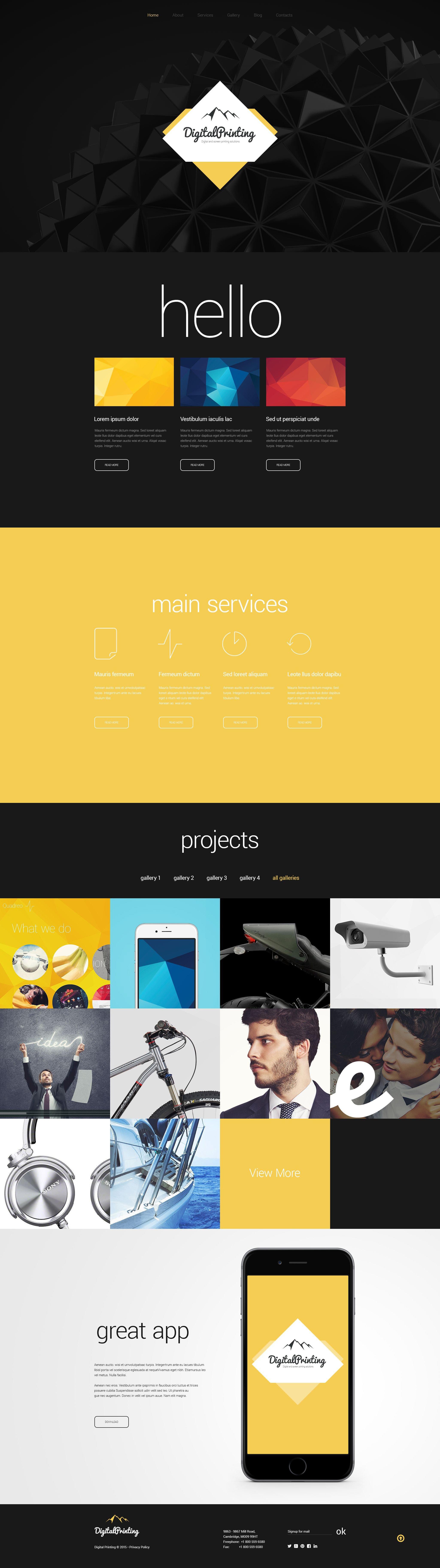Responsive Digital Printing Web Sitesi #55078 - Ekran resmi